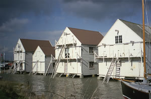 Tollesbury Sail Lofts in flood